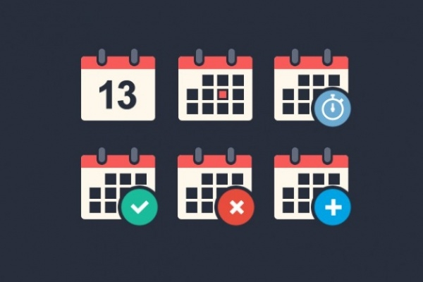 free-calendar-icons-pack