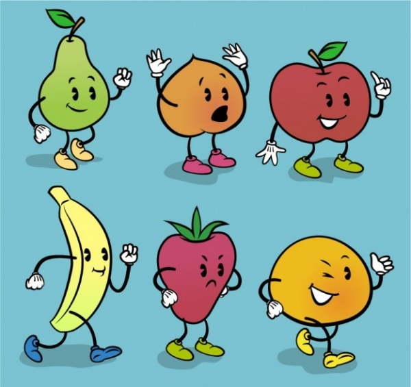Free Cartoon Fruits