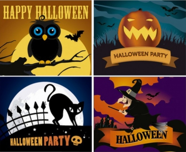 Free Cartoon Halloween Wallpaper