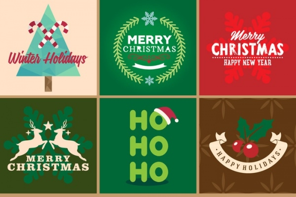 free-christmas-badges-design