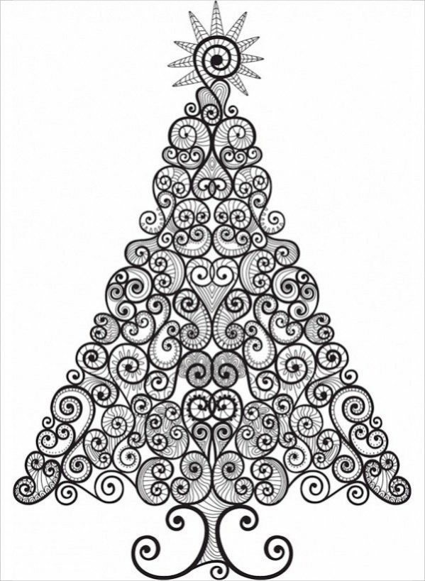 Free Christmas Coloring Page For Adult