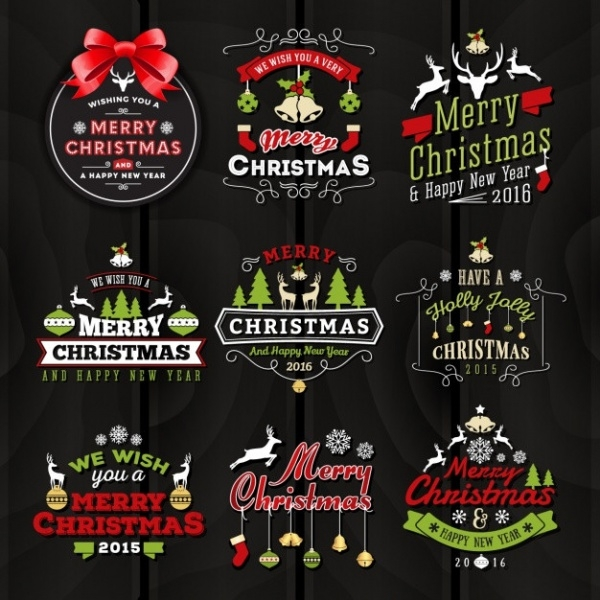 Free Christmas Label Design