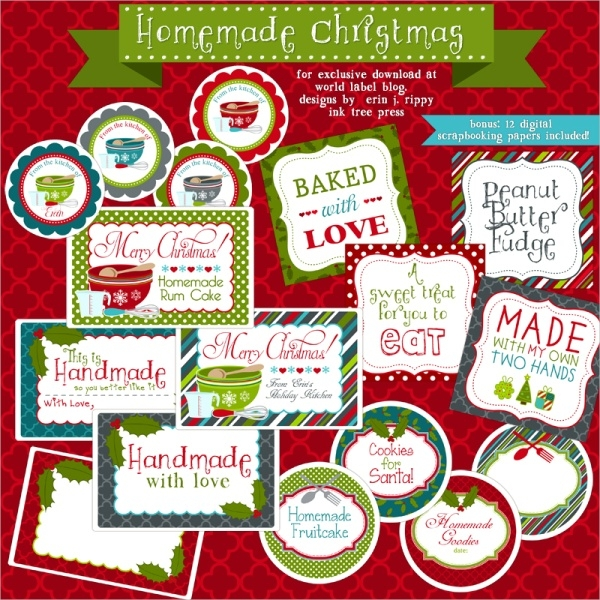 Free Christmas Label Template