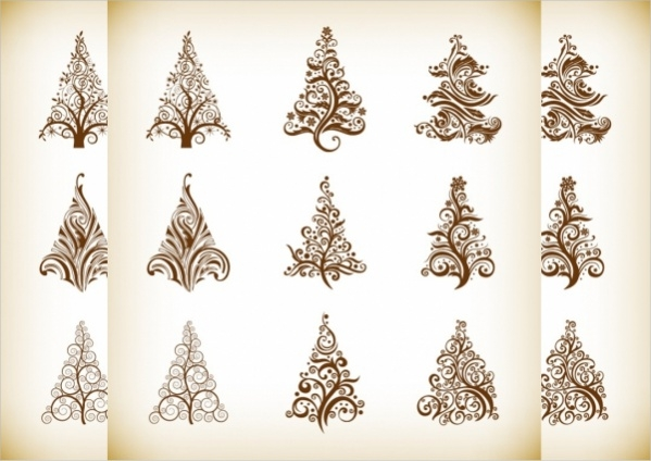 free-christmas-vector-trees-design