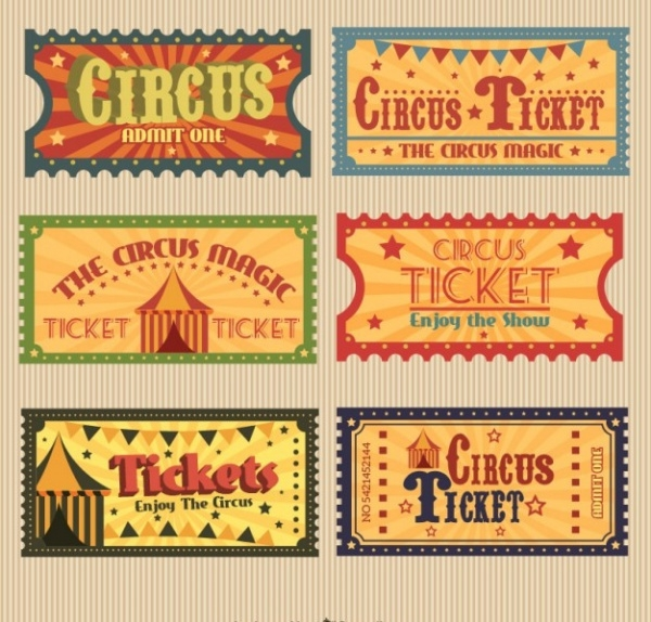 Free Circus Ticket Design