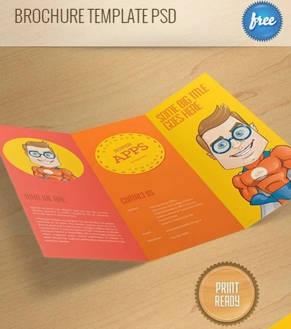 free colorful brochure design