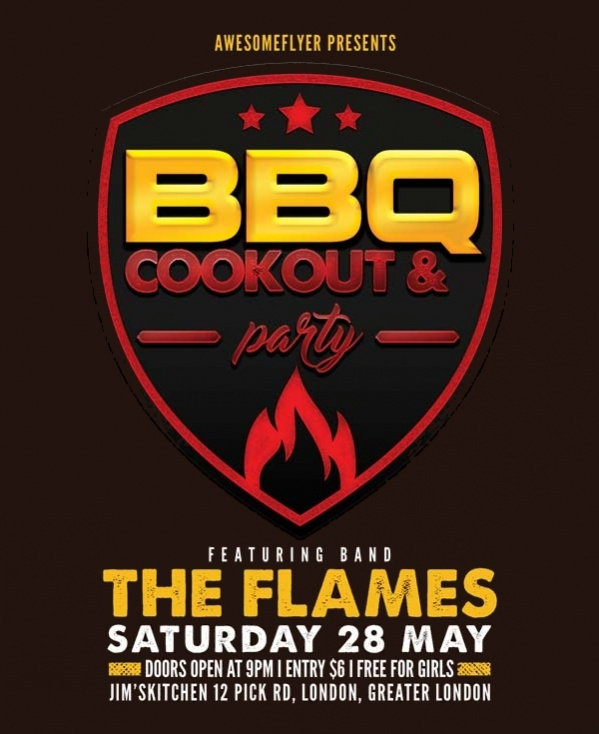 Free Cookout Flyer Template
