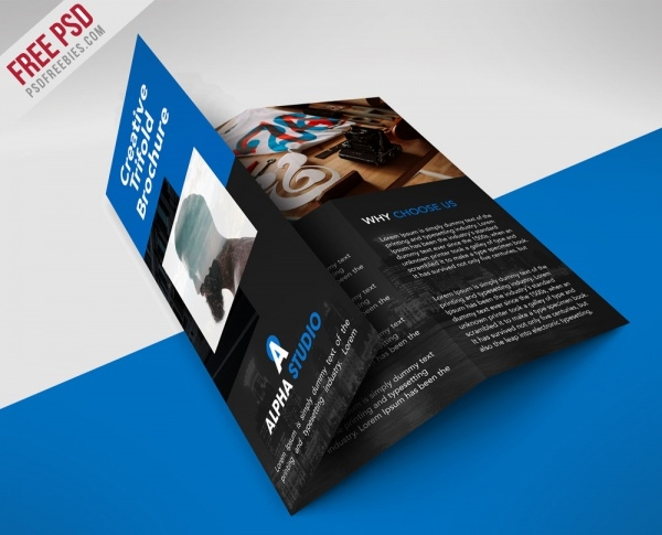 free creative professional brochure design