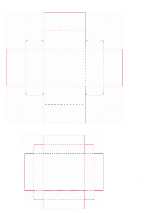 free cupcake box template1