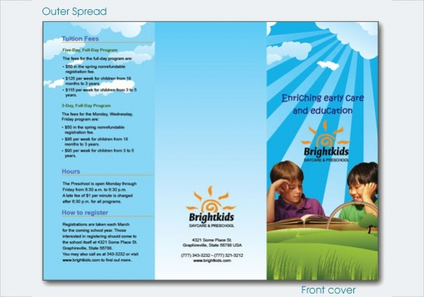 Free Daycare Brochure Design