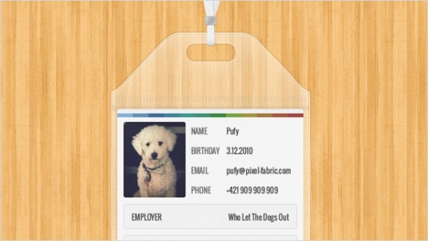 Free Dog ID Card Design