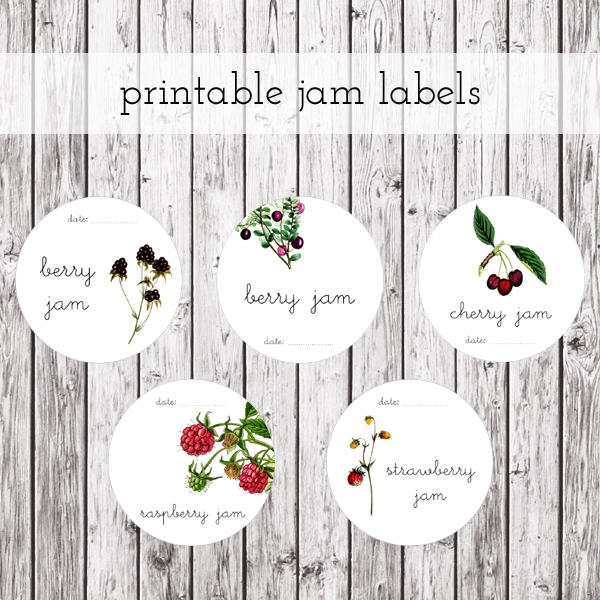 Free Download Printable Jam Labels