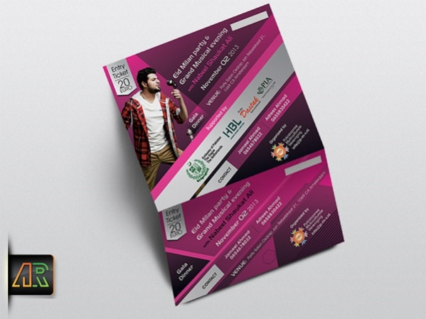Free Entry Ticket Design