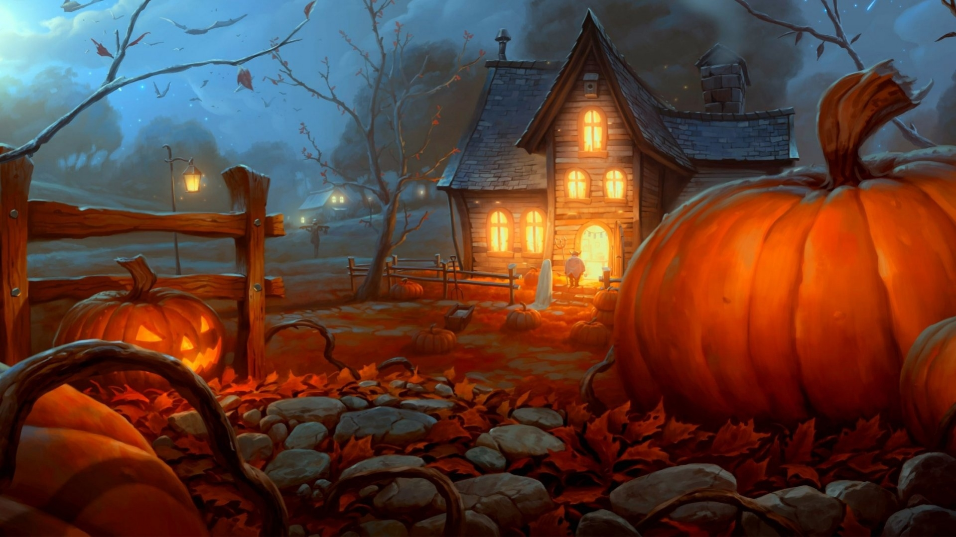 Free Fall Halloween Wallpaper