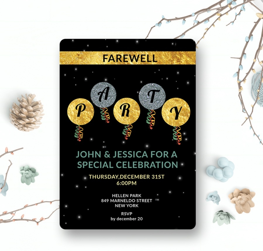 free farewell invitation card