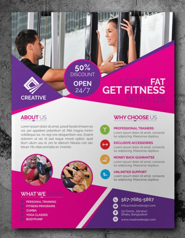 Free Fitness Flyer Design