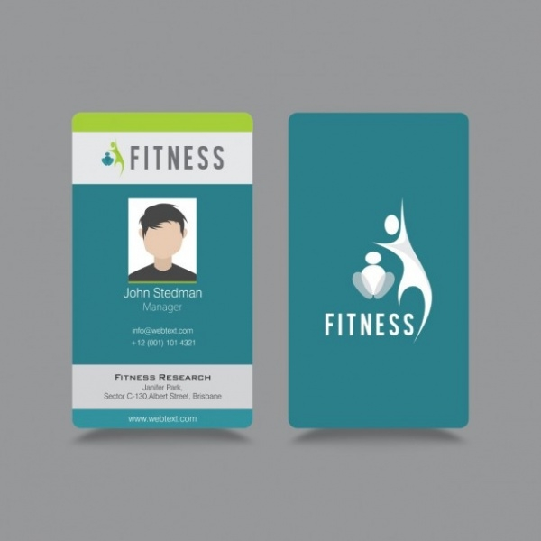 Free Fitness ID Card Design
