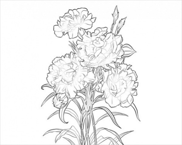 Free Flower Coloring Page for Adults