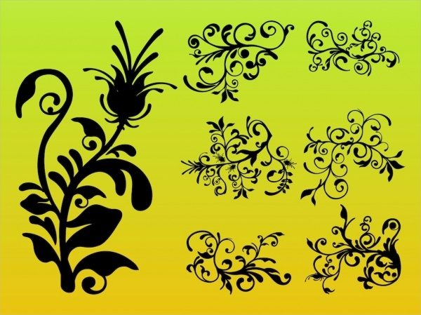 free-flower-silhouettes-design