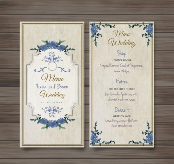 free-formal-wedding-menu-invitation-template