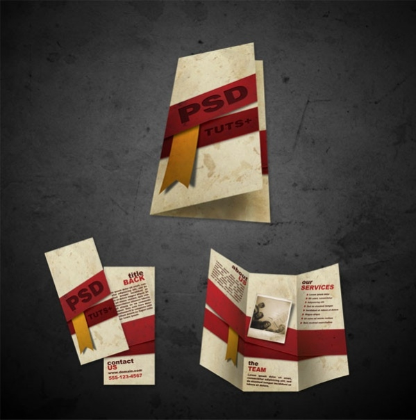 free front back brochure design