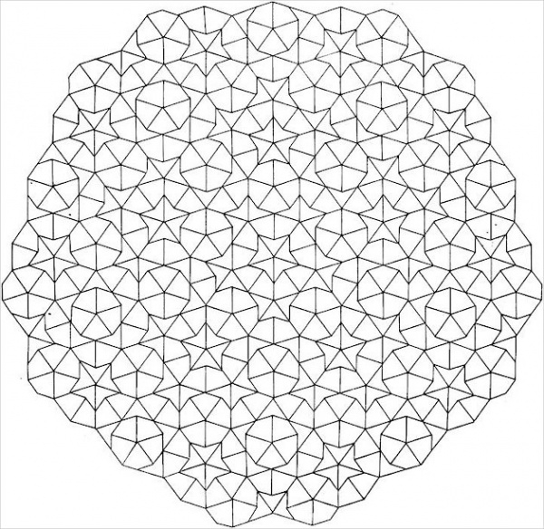 Free Geometric Coloring Page for Adults