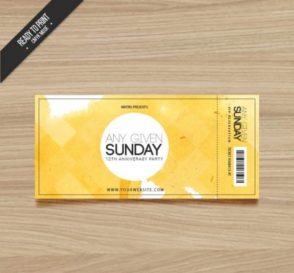 Free Golden Ticket Design