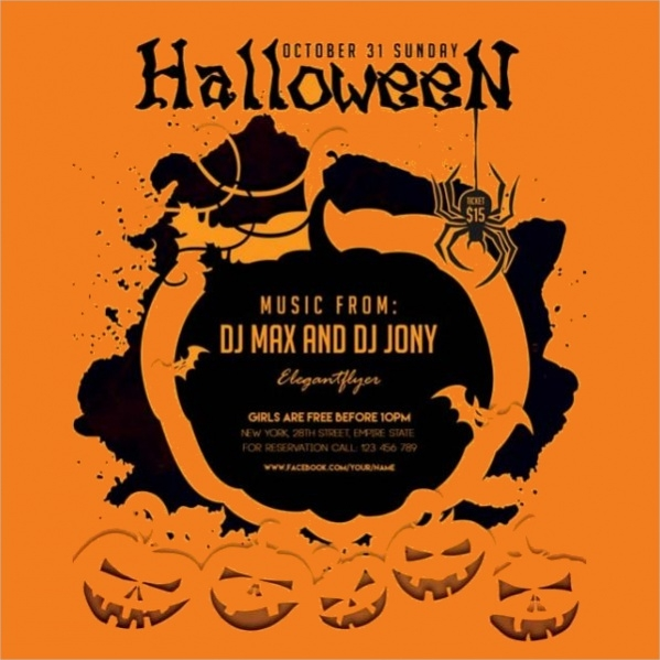 free halloween flyer design