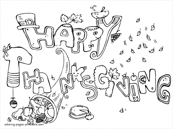 10 thanksgiving coloring pages free pdf printable download for Free thanksgiving color pages