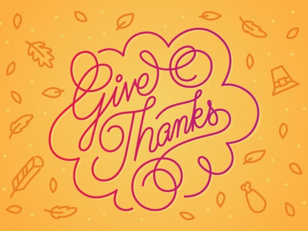 Free Happy Thanksgiving Typography Card