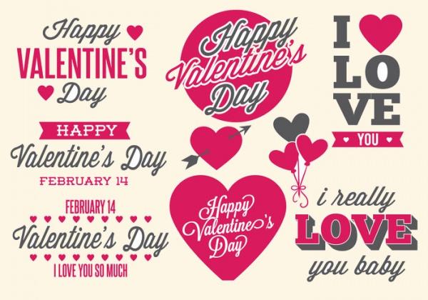 Free Heart Valentine Label Design