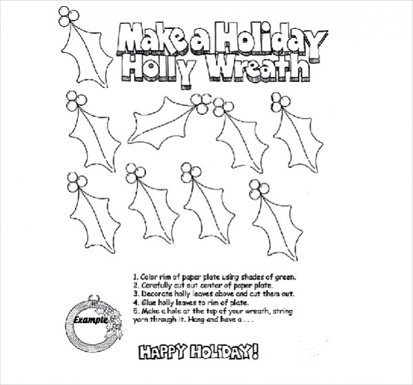 Free Holiday Coloring Page for Adults
