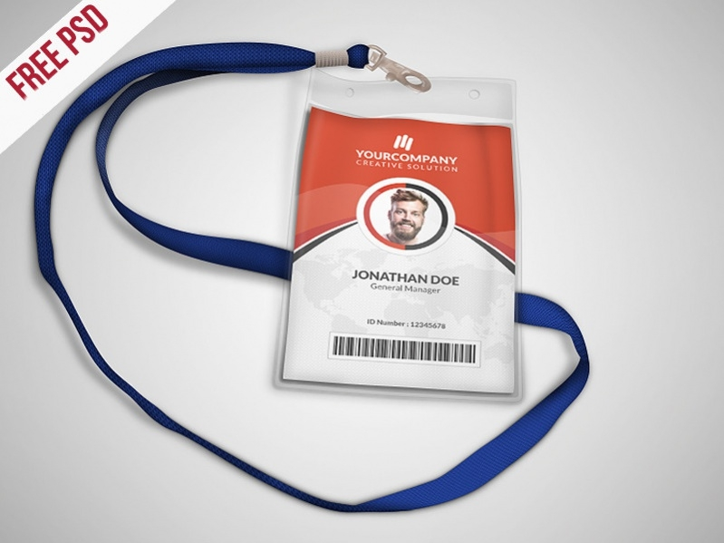 Free IT Services ID Card Design