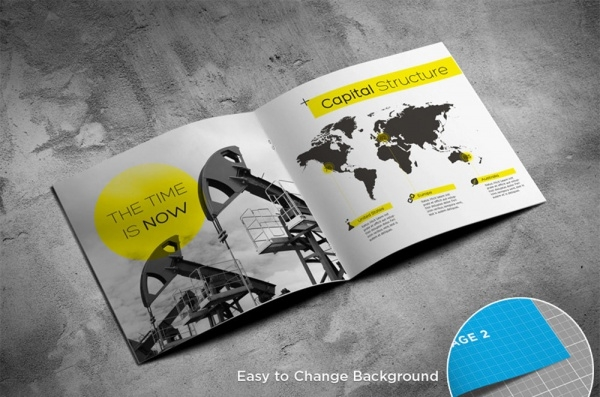 free magazine brochure design