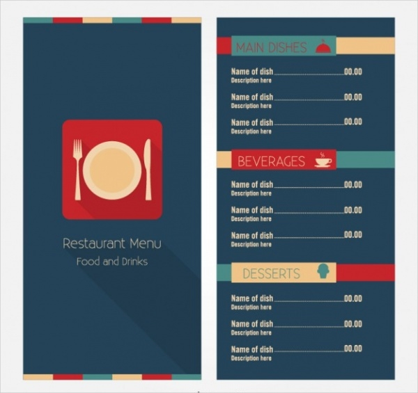 Free Menu Card Template