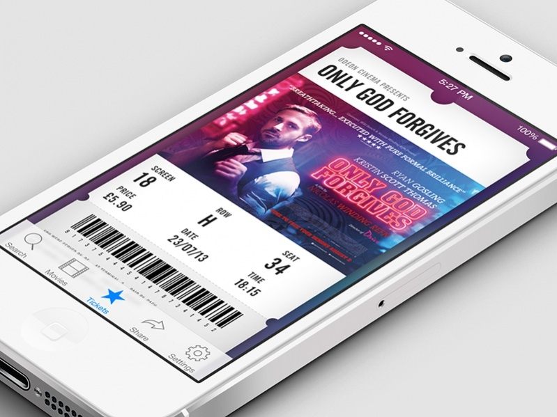 Free Movie Ticket Design