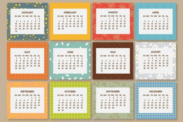 New Year Calendar Designs : Free new year designs psd vector eps download