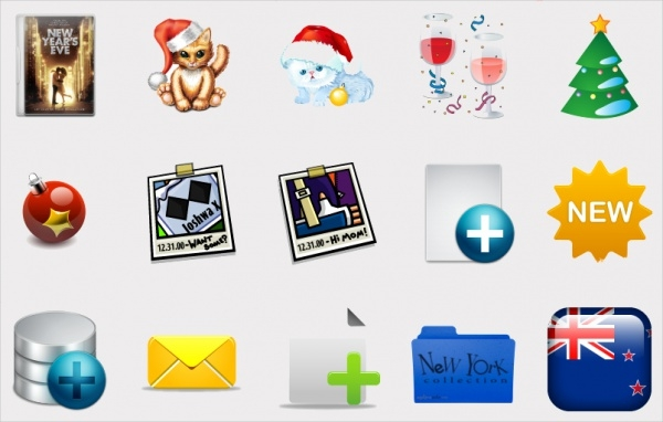free-new-year-icons-pack