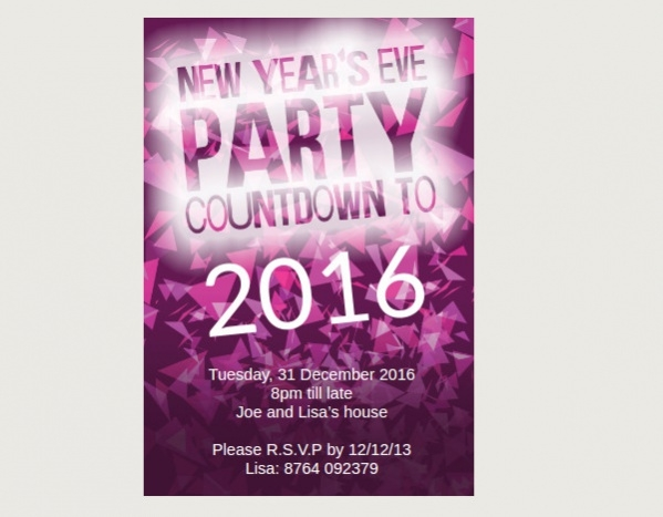 Free New Year Party Invitation