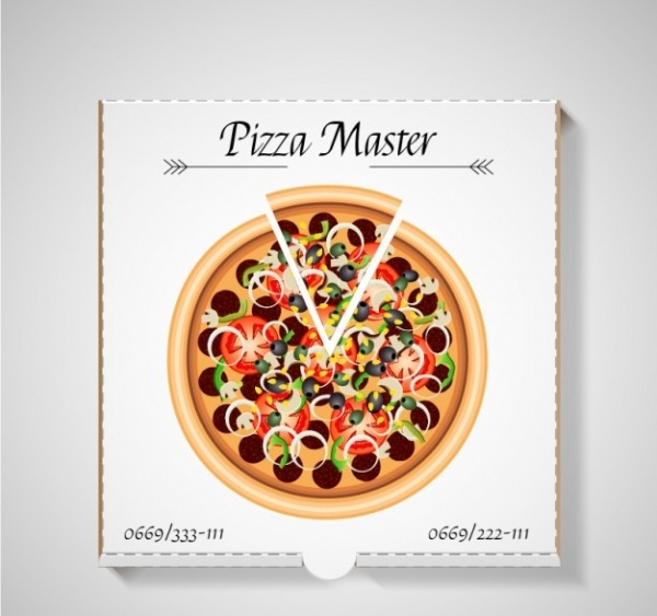 Free Pizza Packaging Design