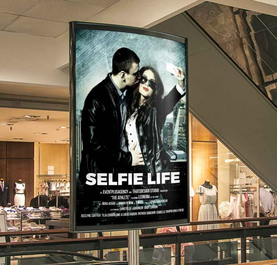 free poster template for selfie time