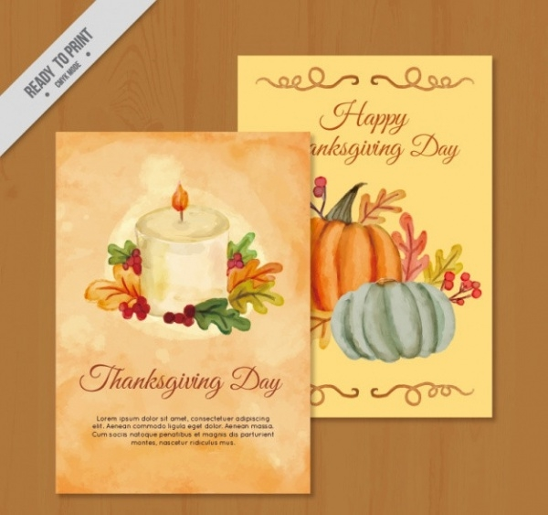 Free Pretty Thanksgiving Greeting Card