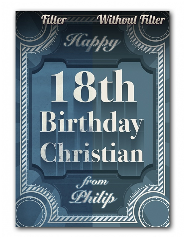 Free Printable 18th Birthday Card