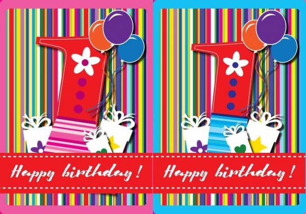 21 Free Printable Birthday Cards PSD Vector EPS Download – 1st Birthday Cards Free Printable