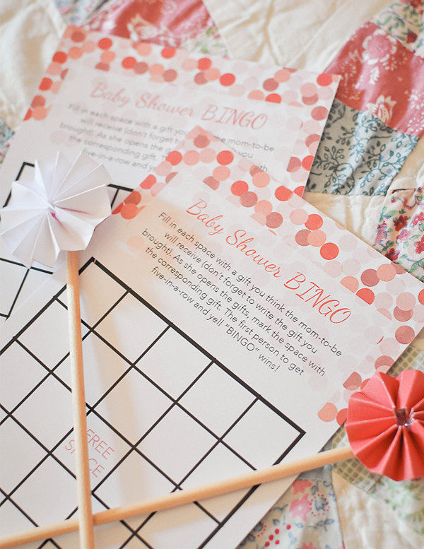 Free Printable Baby Shower Bingo Card