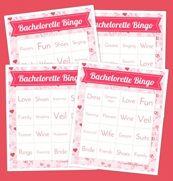 Free Printable Bachelorette Bingo Cards Template