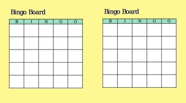 Bingo Card Designs  Jpg Vector Eps Ai Illustrator Download
