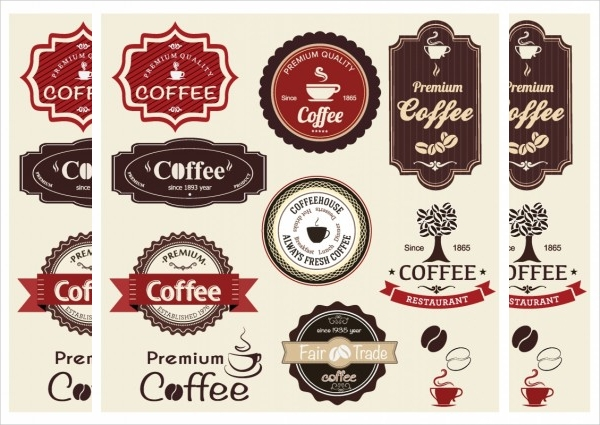 Free Printable COffee Round Labels