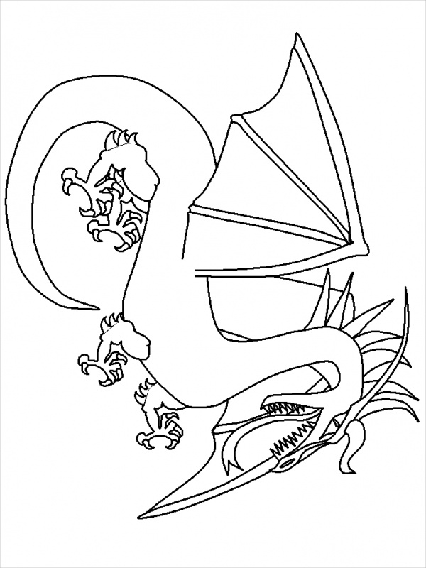 free-printable-dragon-coloring-page