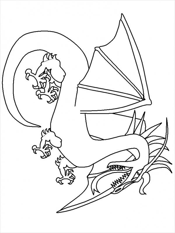 free-printable-dragon-coloring-page